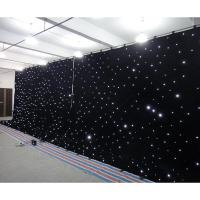 Quality Black Velvet Stage Curtain Fairy Lights Led Wedding Backdrop Curtains For Sale