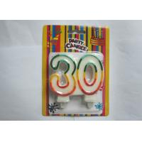 China Personalized Glittering Multi - Colored Outline Number 30 Birthday Art Candle wholesale