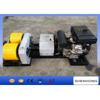 40KN Rated Load Diesel Cable Winch Puller 6 Grooves 240 mm Bottom Diameter