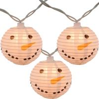 Wholesale Led Paper Lanterns Hanging Outdoor String Lights 8 Cm Square Snowman Shaped from china suppliers