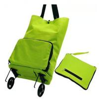 Wholesale Foldable 600D Polyester Fabric Folding Shopping Trolley Bag Accept OEM Colors from china suppliers