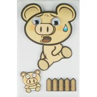Wholesale Offset Printed Running Piggy 3D Cartoon Stickers For Mobile Phone Decor from china suppliers