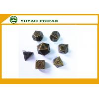 Wholesale Deluxe Metal Golden Polyhedral Game Dice Sets Golden RPG Game Dice Poker Accessories from china suppliers