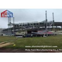 Wholesale Outdoor Stage Showing Triangular Truss System , Lift Towers Aluminum Box Truss from china suppliers