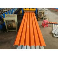 China Powder Coated Corrugated Steel Sheets / Colour Coated Roofing Sheets For Wall on sale