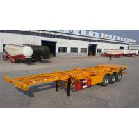 12 Tires 40ft Skeleton Shipping Container Chassis 45 Ton