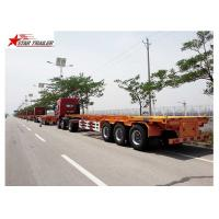 65T Payload Tipping Skeletal Trailers , Q345B Steel Sliding Skeletal Trailer