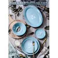 """Wholesale Eco Friendly 9"""" 23cm Fish Marine Collection Bone China Full Plate from china suppliers"""