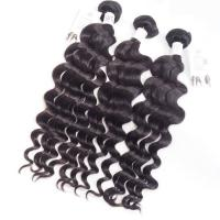 Buy cheap Virgin Indian Wet And Wavy Remy Human Hair Weave Extensions Natural Black # 1b from wholesalers