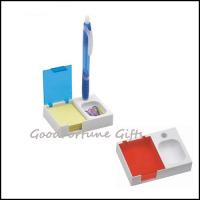 Pen Pencil Holder With Sticky Notes And Clip Organizer Of
