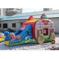 Wholesale Princess Carriage Inflatable Jumping Castle Slide With Lead Free Material For Kids Parties from china suppliers