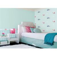 Simple Style Interior Design Bedroom Wallpaper For Boys / Girls , ISO SGS Standard