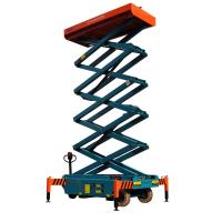Wholesale 12 meters height mobile hydraulic scissor lift with motorized device loading capacity at 450Kg from china suppliers