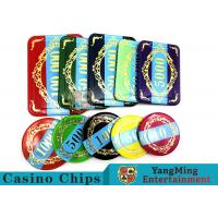 Quality Economy Plastic Casino Poker Chips Set 760 pcs With Aluminum Case for sale