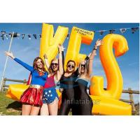 Wholesale Outdoor Activity Inflatable Letter Decoration / Advertising Inflatables Wind Resistant from china suppliers