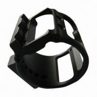 China High-accuracy CNC Machined Part, Made of 6061 Aluminum, with Black Hard Coat Anodized Surface Finish on sale