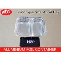 Wholesale H2P Aluminium Foil Products 1000ml Volume Tin Foil Food Containers 2 Compartments from china suppliers