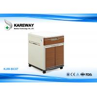 China Brown Hospital Bedside Cabinet Match With Care Beds , 2 Inch Caster KJW-BC07 wholesale