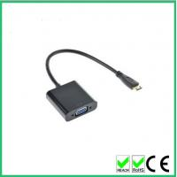Wholesale White support 1080P Mini HDMI to VGA adapter converter without Audio and power for PC macbook Desktops Laptops from china suppliers