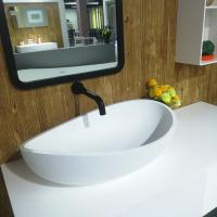 Wholesale Artificial Stone Coutertop Sink Hand Washing Basin Boat Model Design Eco - Friendly from china suppliers