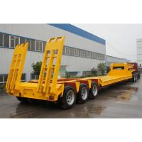 Wholesale Low Bed 4 Axle Heavy Duty Lowboy Truck Trailer / Container Diesel Semi Tractor from china suppliers