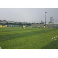 Wholesale Healthy Flat Artificial Football Turf Lively Olive Color Solid Backing 50mm Height from china suppliers