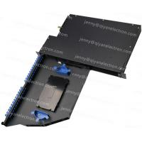 Wholesale 1U 2U Rotatable Rack Mount Patch Panel Max 96 Cores Metal material from china suppliers