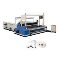 China Big Industrial Paper Roll Rewinding Machine 1200mm With Edge Embossing wholesale