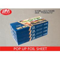 Wholesale 14 Micron Thickness Pre Cut Aluminum Foil Sheets Non - Stick Treatment Surface from china suppliers