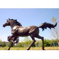 Wholesale Large Running Bronze Garden Statues Horse Sculpture Corrosion Stability from china suppliers