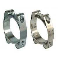 Double Bolts Heavy Duty Hose Clamps / Stainless Steel Pipe Clips Equal Shape