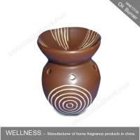 Wholesale Different Classic Shaped Ceramic Aroma Oil Burner With Spiral Pattern from china suppliers