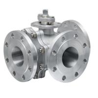"""Wholesale RF Lever Operated 3 Way Ball Valve Stainless Steel ANSI 150LB 1/2"""" to 24"""" from china suppliers"""