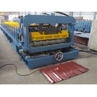 Metal Tile Roll Forming Machine High Performance Hydraulic Cutting Type