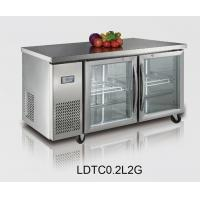 Wholesale High End Professional Salad Refrigerated Counter For Home and with glass door from china suppliers