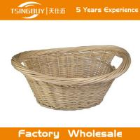 Wholesale Factory wholesale high quality 100% nature handcraft baby gift basket decoration rattan wicker bread baskets from china suppliers