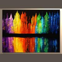 China New Arrival Colorful Abstract Wall Painting For Living Room on sale