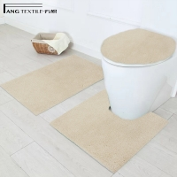 Wholesale Shaggy Waterproof Toilet Pedestal Mat For Toilet Prevent Shifting from china suppliers