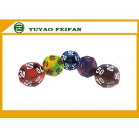 China Custom Multicolor Acrylic Polyhedral 6 Sided Dice Sets Solid Color Dice Sets wholesale