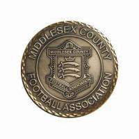 Wholesale Sports Coin/Football Commemorative Coin, Made of Brass Material from china suppliers