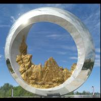 Wholesale Mirror polish Large metal round ring stainless steel sculpture project,Stainless steel sculpture supplier from china suppliers