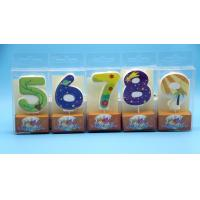 Wholesale Lovely 0-9 Number Birthday Candles Set With Glitter Decoration Smokeless from china suppliers