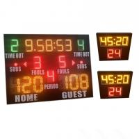 Buy cheap World Cup Same Type LED Basketball Scoreboard , Portable Basketball Scoreboard from wholesalers