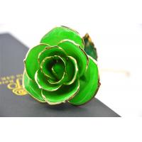 Wholesale Green Gold Rose Flower 30*6cm , Real Rose Dipped in 24k Gold Open with Gift bag from china suppliers