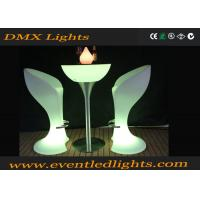 China CE & ROHS Approved illuminated plastic led cocktail table for party , events wholesale