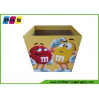 Point Of Sale Retail Cardboard Recycling Bins Display Stand For M&M Candies DB019