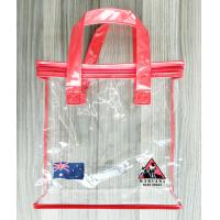 Wholesale Zippered Clear PVC Household Storage Bags Portable Transparent Shopping Bag With Handles from china suppliers
