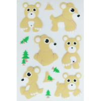 Wholesale Removable PVC Foam Puffy Animal Stickers For Scrapbooking Die Cut Machine Processed from china suppliers
