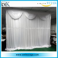 wedding walkway stand backdrop stands pipe and drape with wrinkles
