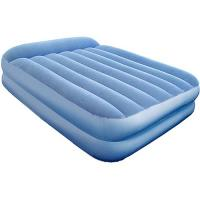 Double size fortable PVC Flocked inflatable air bed